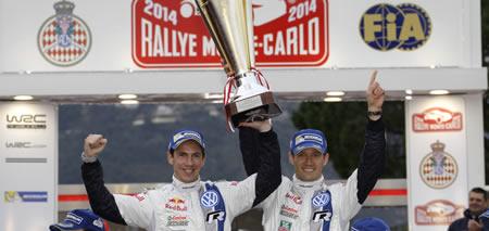 Podio Rallye Monte Carlo